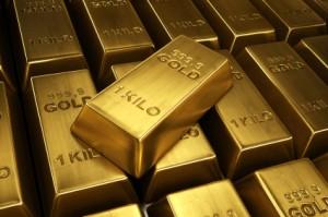 Lingots d'or achetés sur le Net
