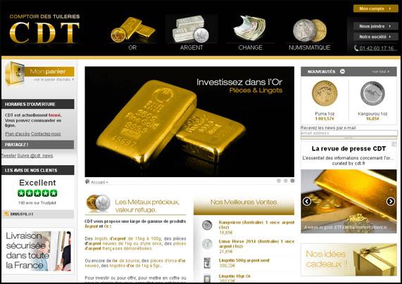 Nos tests et avis sur le courtier en or physique: Comptoir des Tuileries