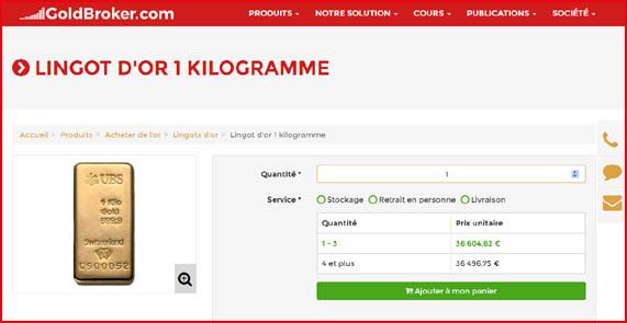 Chez Qui Et Comment Acheter Des Lingots D Or De 1kg